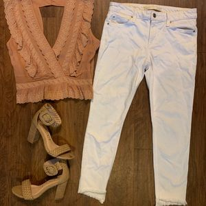 Joe's Jeans, Cropped Skinny Jeans with Frayed Hem